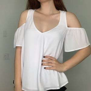 SHOW ME YOUR MUMU NEW WHITE OFF THE SHOULDER